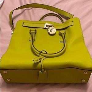 Michael kors large Hamilton satchel bag (yellow)